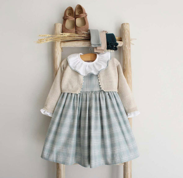Olivia green tartan dress