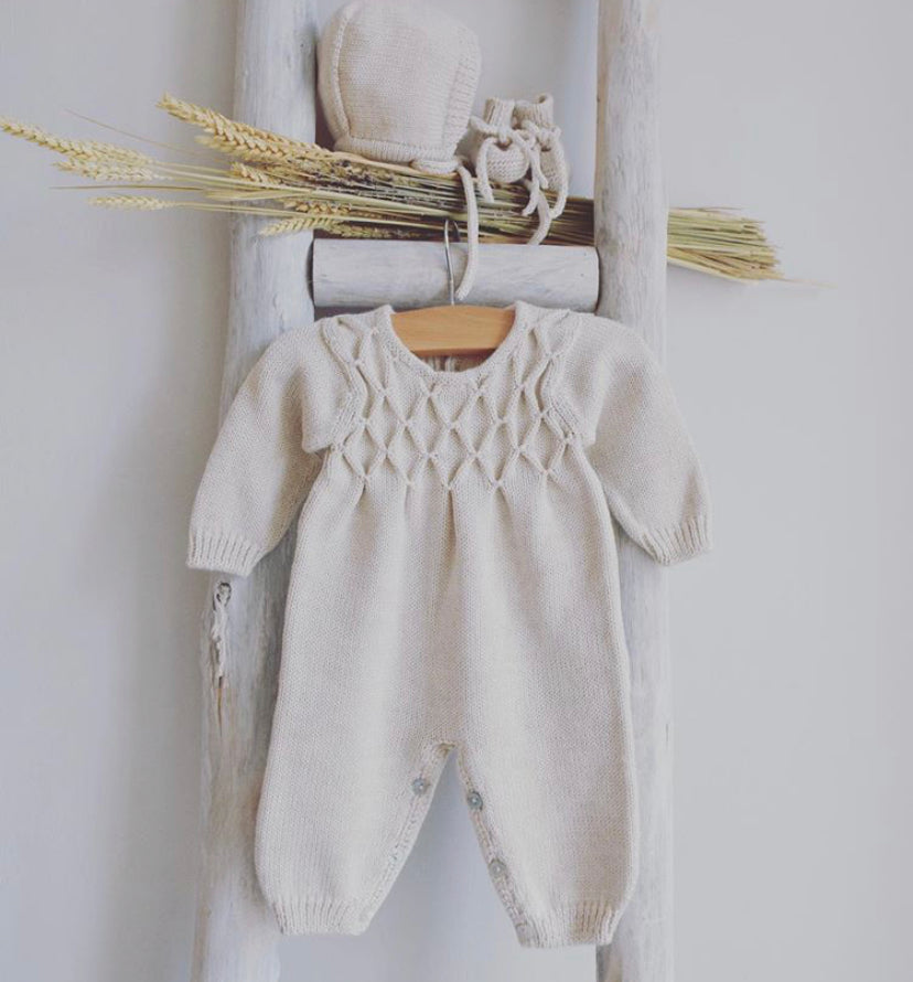 Hand knitted overall