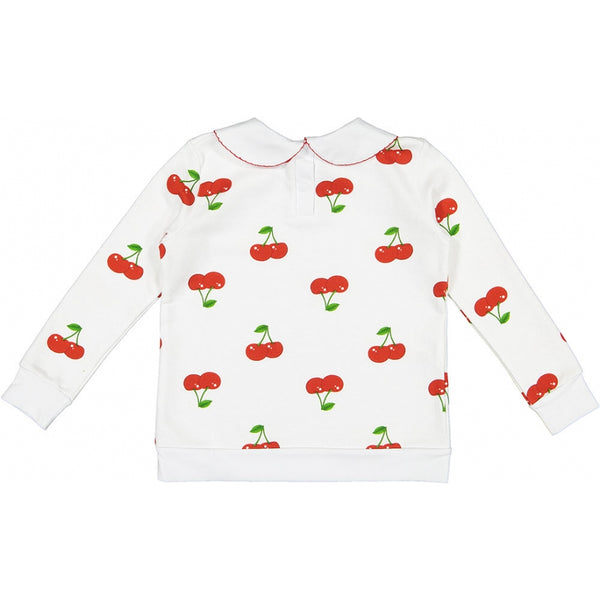 Cherry on sweatshirt