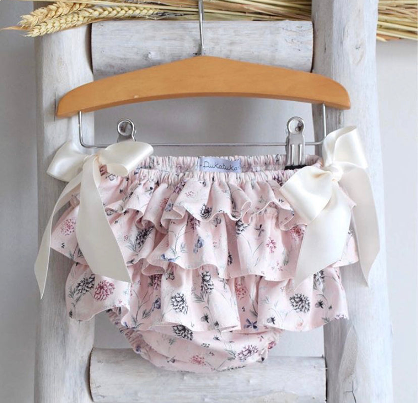 Floral frilly bloomers
