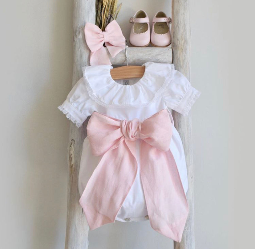 Bow celebration romper