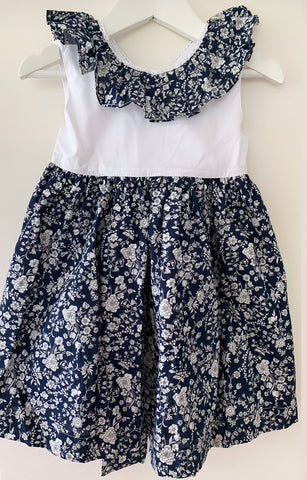 Navy liberty floral dress