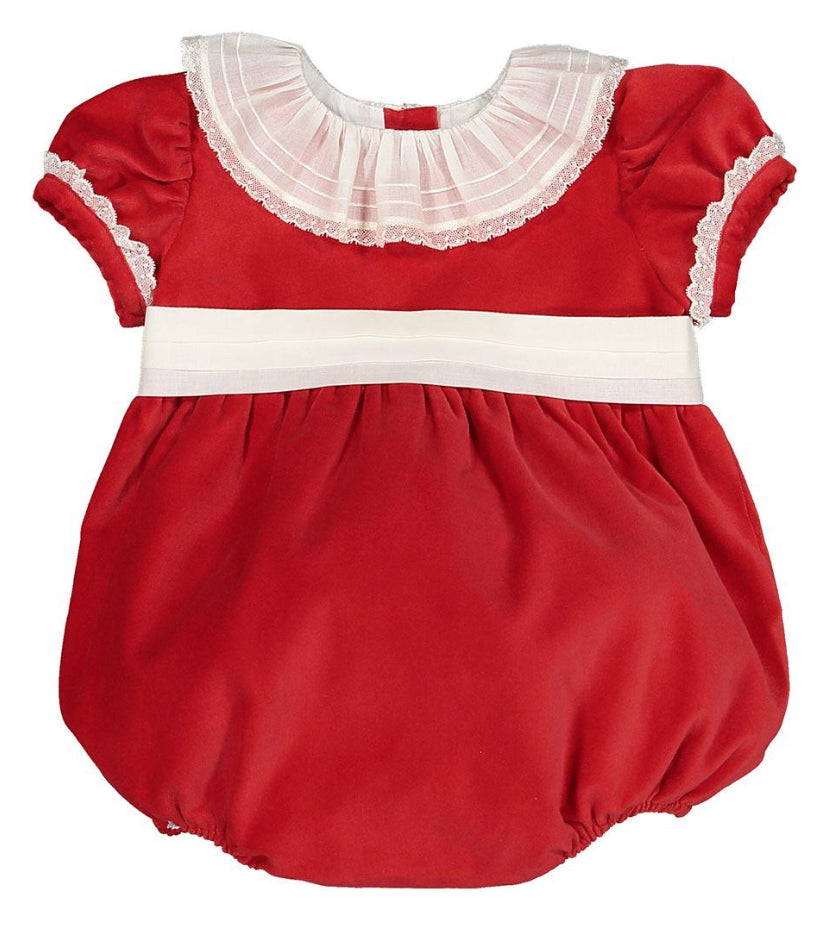 Vendome red velvet romper