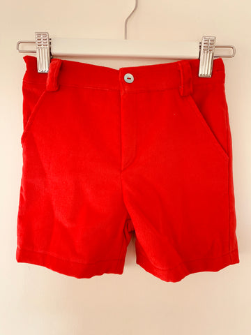 Christmas red velvet  shorts
