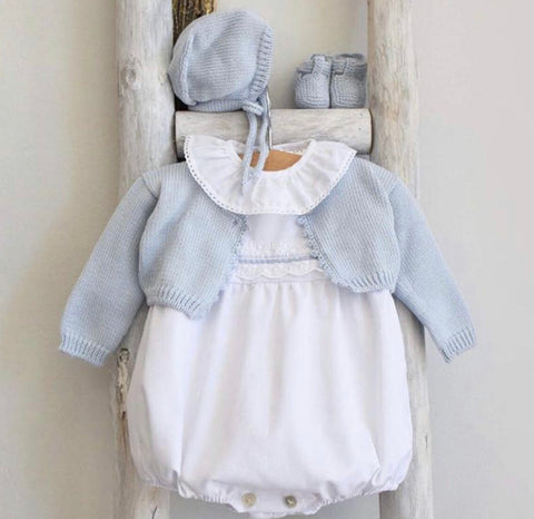 Cotton Cardigan in baby blue