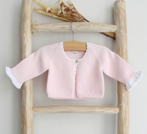 Knitted cardigan in pink