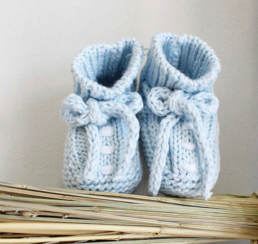 Cotton booties in blue
