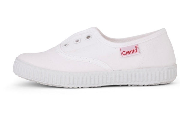 Slip on canvas shoes-white