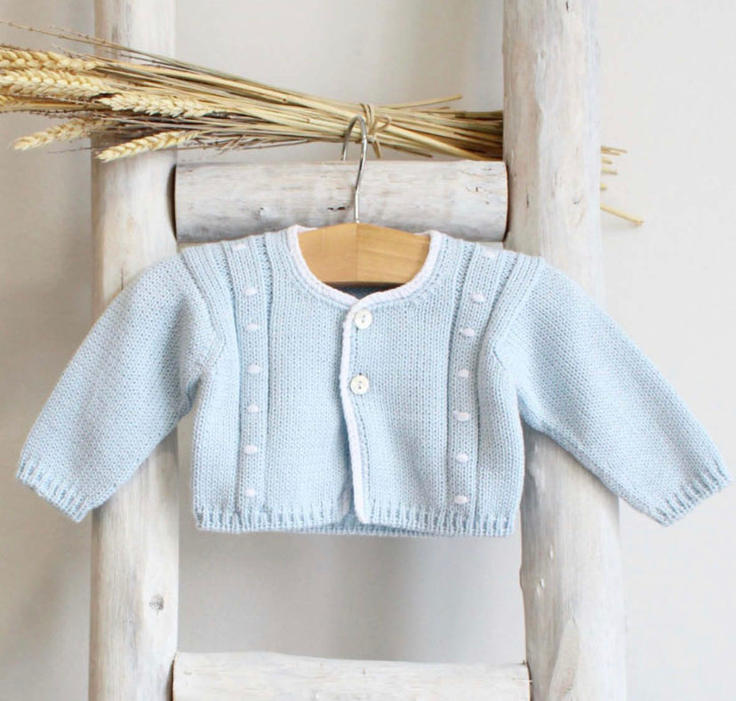 Blue cotton cardigan