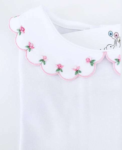 Body long sleeves- Pink flowers