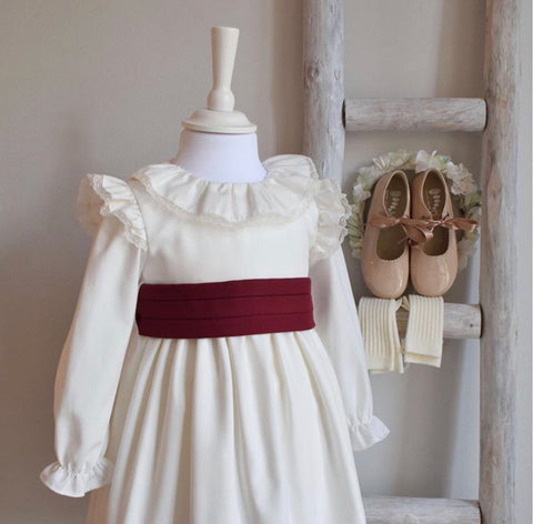Anna dress in burgundy
