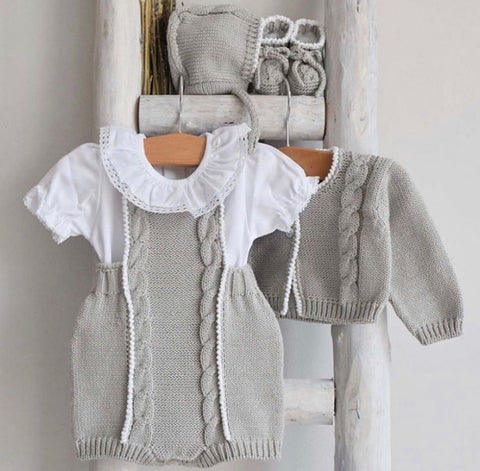 Organic cotton grey cardigan