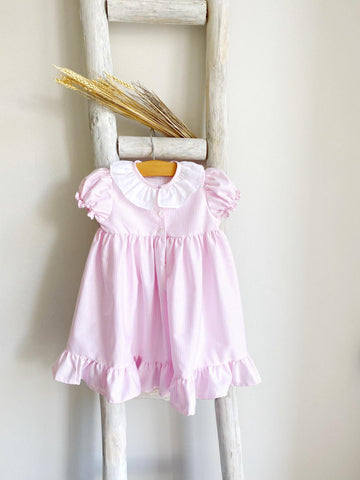 Pink stripy nightgown