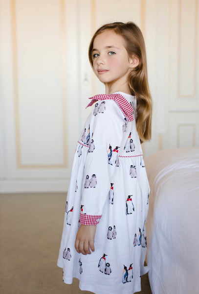 Bow-tie penguins  nightgown