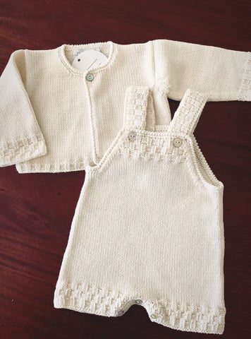 Cardigan and romper baby set