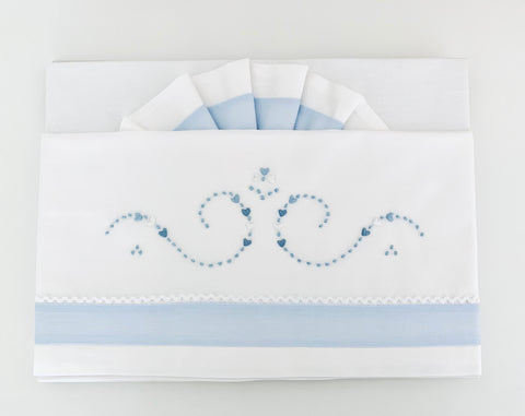 Blue hearts Bed Linen set