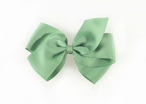 Large Hair Bow-Celadon