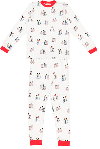 Bow tie penguins kids pyjama