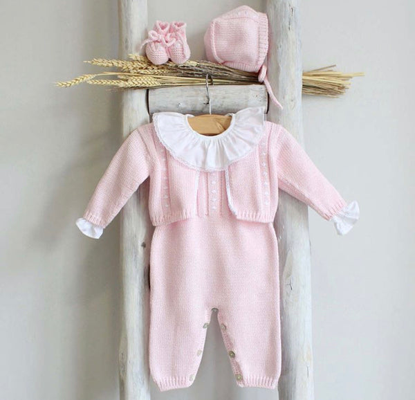 Pink cotton overall