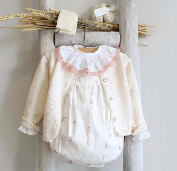 Reindeer romper in dusty pink
