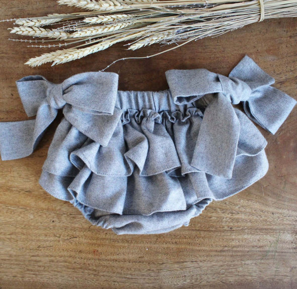 Grey frilly bloomers
