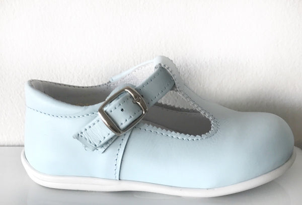 T-bar shoes in baby blue