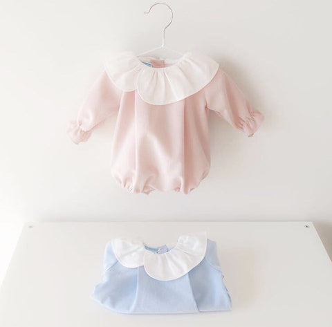 Baby romper in pink