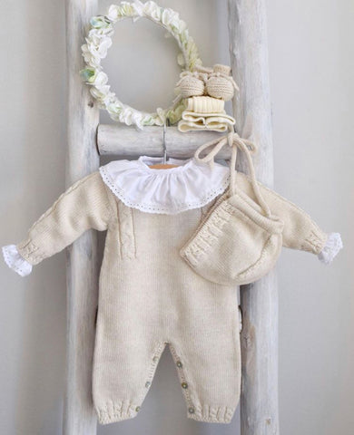 Cream knitted overall