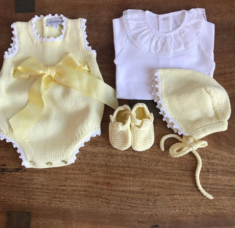 Organic cotton yellow booties
