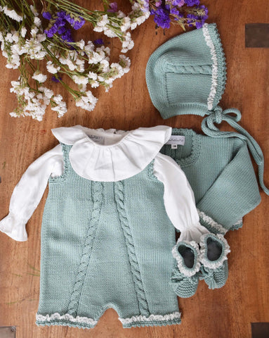 Organic cotton sage bonnet