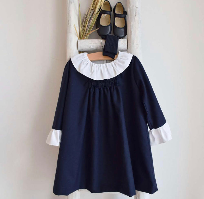 Ella dress in navy blue