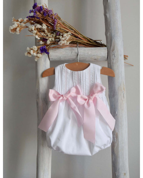 Romper with pink bows