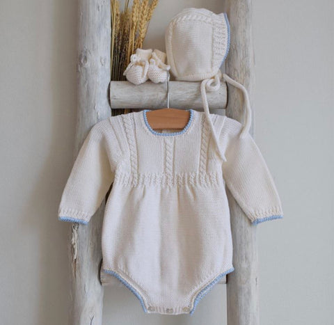 Oliver cable knitted romper