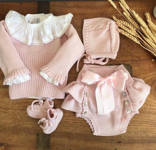 Dusty pink knitted jumper