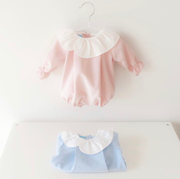 Baby romper in blue
