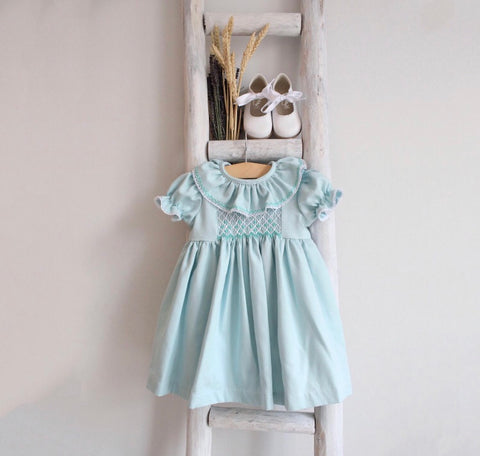Elle dress in pastel green