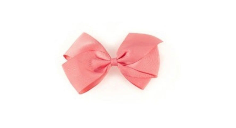 Large Hair Bow- Coral