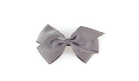 Large Hair bow - Grey