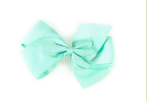 Large Hair Bow - Pastel turquoise