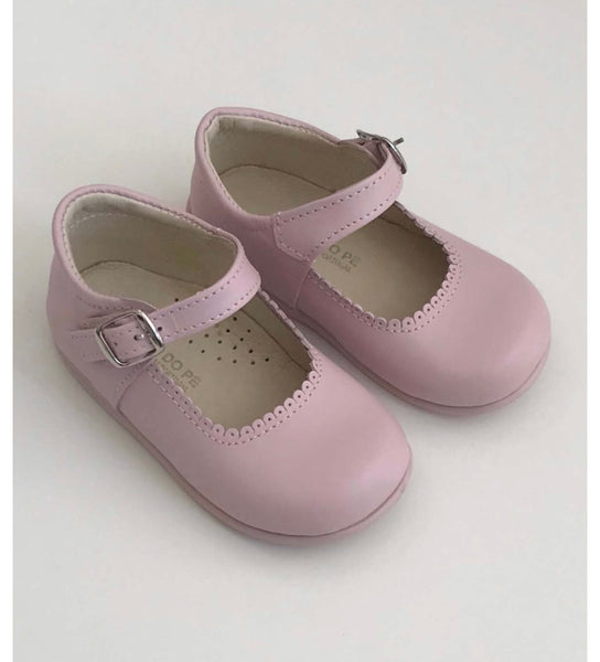 Pink leather mini Mary janes