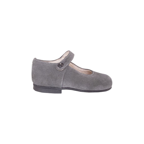 Grey suede leather Mary Janes