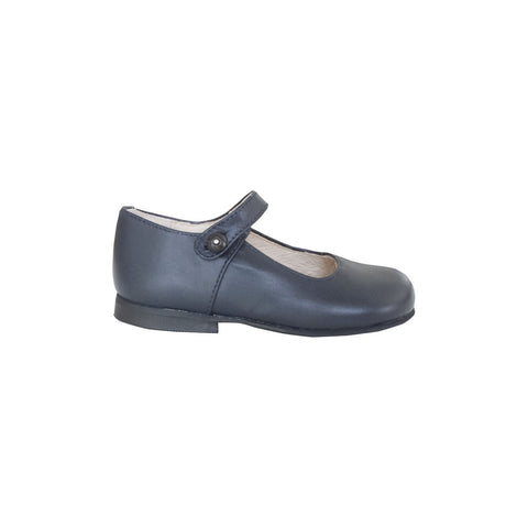 Navy blue leather Mary Janes