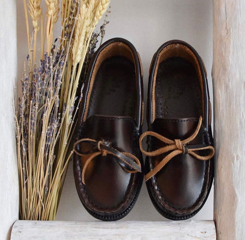 Leather Boat boys shoes