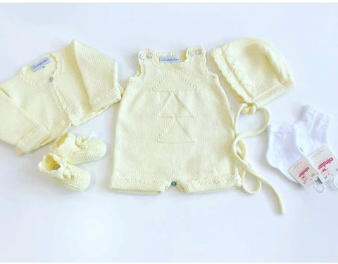 Organic cotton yellow cardigan