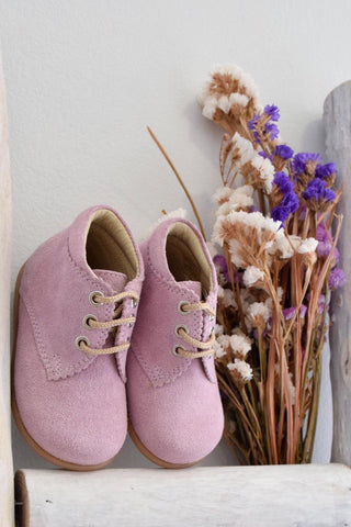 Suede boots - pink
