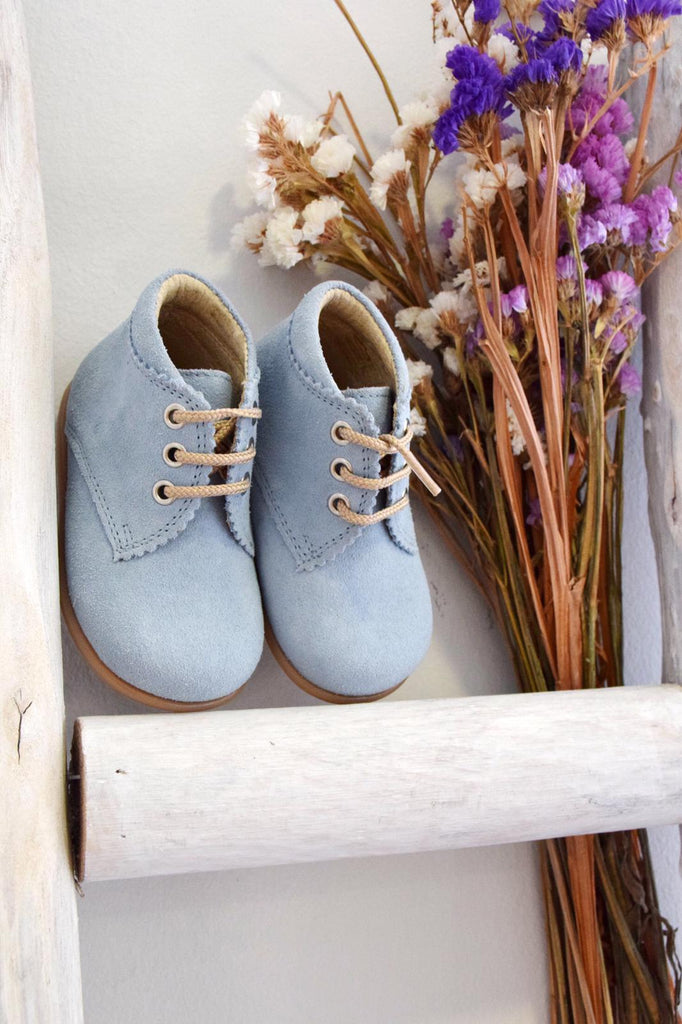 Suede boots - blue