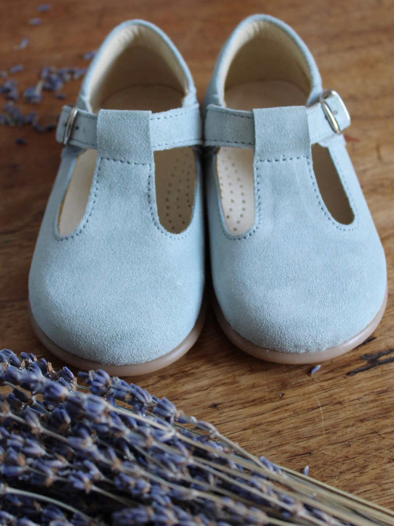 T-bar baby shoes in blue