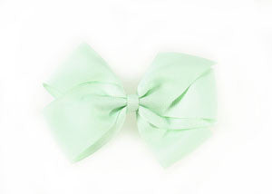 Large Hair Bow- Pastel green