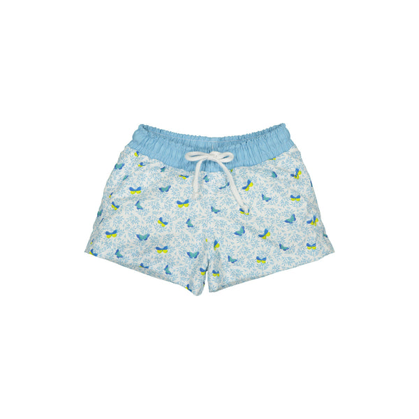 Blue butterflies swim trunks