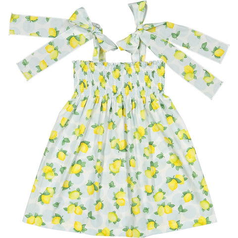 Blue lemonade bows dress